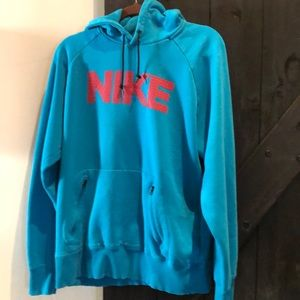 Nike Hoodie blue and red size Large
